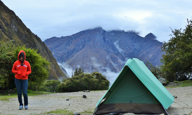 Our campsite at Lluchapampa on the Inca Trail