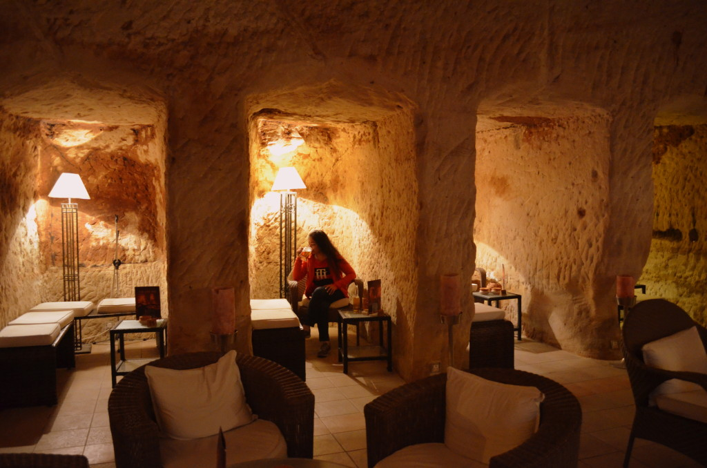 The Cave Bar, housed inside a Nabataean tomb, is a perfect way to unwind after a long day of trek. There are several burial coves which form private seating areas inside the cave.