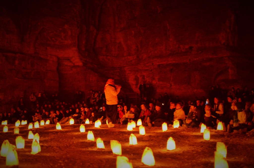 Highly recommended, Petra by night is a surreal experience with 1800 candles to guide you to Al Khazneh (The Treasury). Bedouins play soulful music reverberating from the ancient walls of Al Khazneh seeking tales from an era gone by.