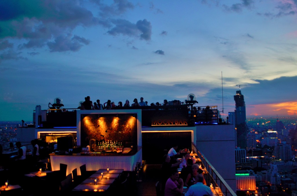 Drinks with a view, at the Moon Bar @ Banyan Tree Rooftop