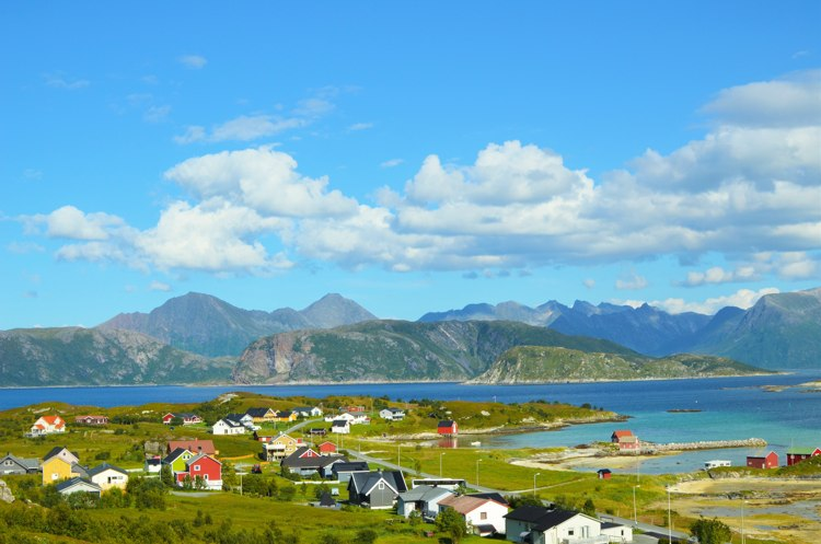 The little fishing village of Sommaroy